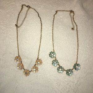 Two charming Charlie flower necklaces